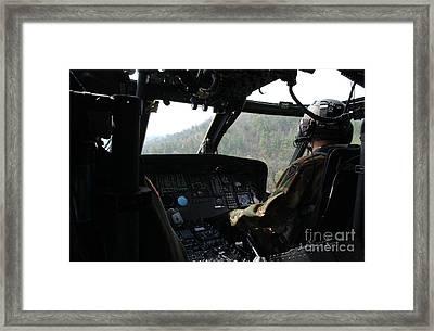 An Army National Guard Uh-60 Black Hawk Framed Print