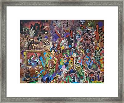 An Artist Contemplates Good And Evil Framed Print
