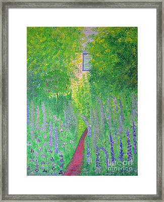 An Artist's Cottage Framed Print by Stacey Zimmerman