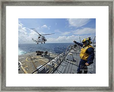 An As-332 Super Puma Helicopter Framed Print