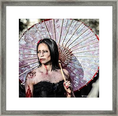 Framed Print featuring the photograph An Asian Zombie by Stwayne Keubrick