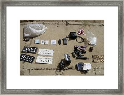 An Assortment Of Improvised Explosive Framed Print