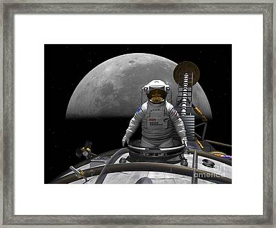 An Astronaut Takes A Last Look At Earth Framed Print by Walter Myers