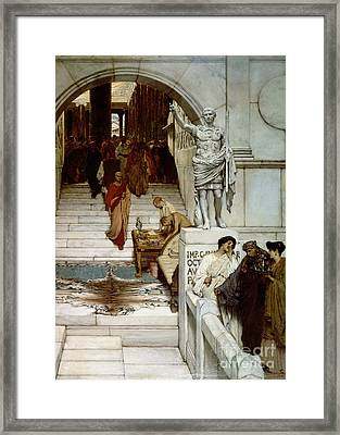 An Audience At Agrippa's Framed Print