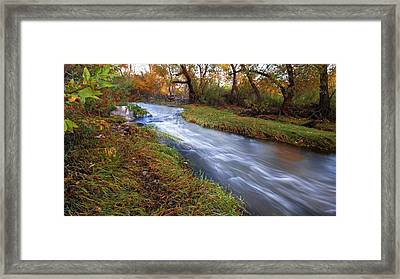 An Autumn Meandering Framed Print by Ryan Weddle