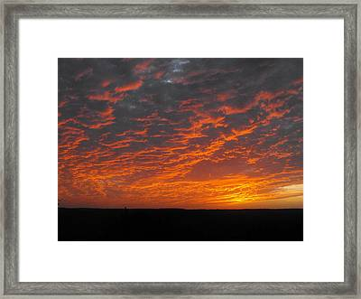 An Awesome Texas Sunset Framed Print by Rebecca Cearley