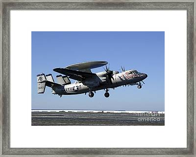 An E-2c Hawkeye Conducts A Touch-and-go Framed Print by Stocktrek Images