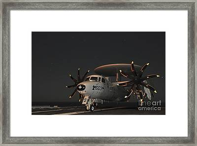 An E-2c Hawkeye Is Chained Framed Print by Stocktrek Images