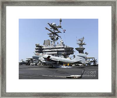 An Ea-6b Prowler Catches An Arresting Framed Print