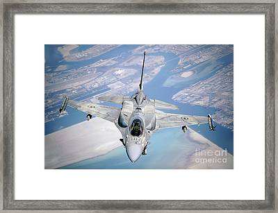 An Emirati F-16 Conducts A Training Framed Print by Stocktrek Images