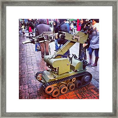 An #eod #robot On #display For The Framed Print