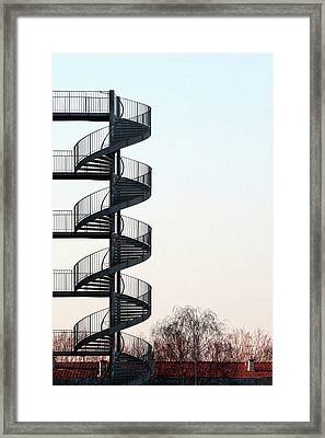 An Escape Stairway Framed Print by Gerard Hermand