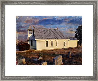 An Evening At Mcelwee Chapel Framed Print