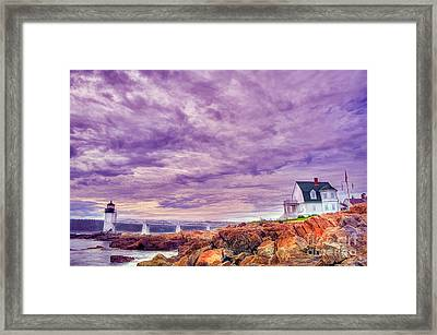 An Evening In Maine Framed Print by Darren Fisher