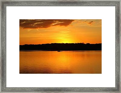 An Evening Ride At Patoka Framed Print by Brandi Allbright