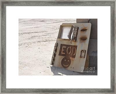 An Explosive Ordnance Disposal Logo Framed Print by Stocktrek Images