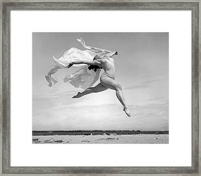 An Exuberant Dance To Spring Framed Print by Underwood Archives