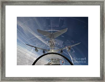 An F-16 Flies In The Pre-contact Framed Print by HIGH-G Productions