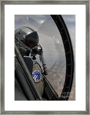 An F-16 Pilot Checks The Position Framed Print by HIGH-G Productions