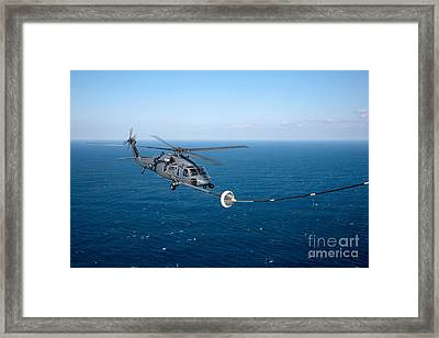 An Hh-60 Pave Hawk Refuels Framed Print by Stocktrek Images