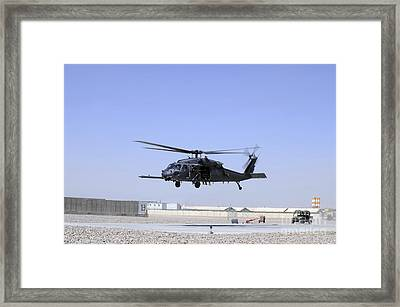 An Hh-60g Pave Hawk Taking Framed Print by Stocktrek Images