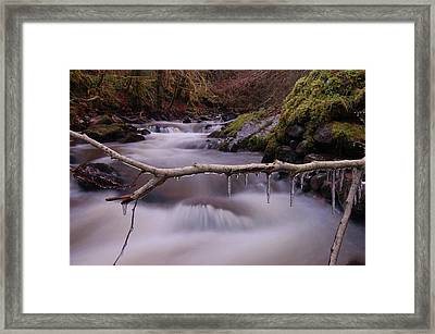 An Icy Flow Framed Print