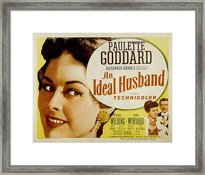 An Ideal Husband, Paulette Goddard Framed Print by Everett