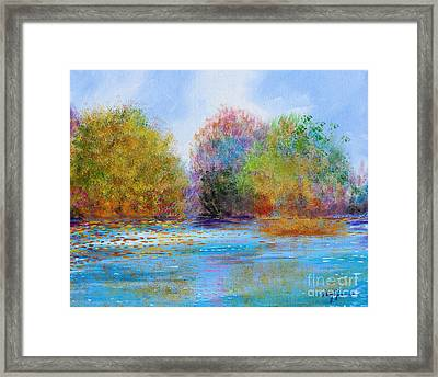 Framed Print featuring the painting An Impressionist's Symphony by Stacey Zimmerman