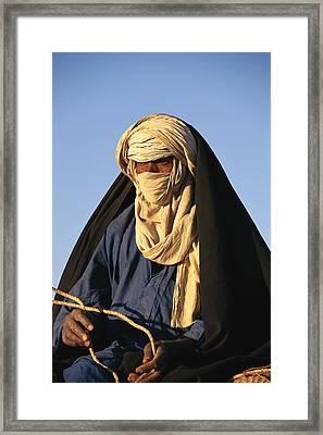 An Informal Portrait Of A Tuareg Man Framed Print by Michael S Lewis