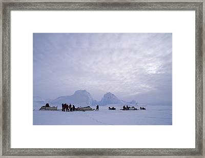 An Inuit-led Expedition Parks Framed Print by Gordon Wiltsie