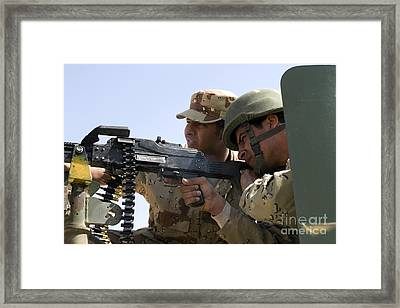 An Iraqi Army Instructor Supervises An Framed Print