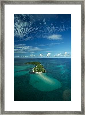 An Island In The Quirimbas Archipelago Framed Print by Jad Davenport
