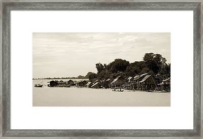 An Island Village On River Irrawaddy Framed Print by RicardMN Photography