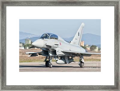 An Italian Air Force Eurofighter Framed Print by Giovanni Colla