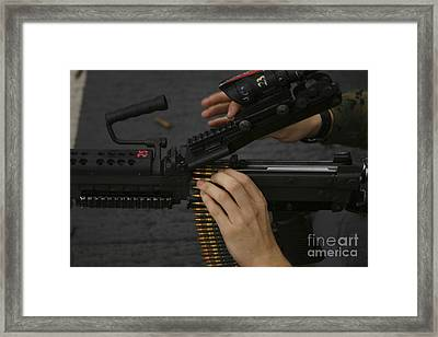 An M-249 Squad Automatic Weapons Framed Print by Stocktrek Images