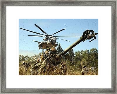 An Mh-53e Sea Stallion Helicopter Framed Print by Stocktrek Images