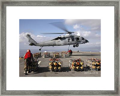 An Mh-60s Knighthawk Helicopter Framed Print