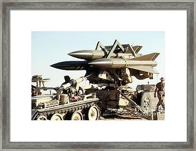 An Mim-23b Hawk Surface-to-air Missile Framed Print