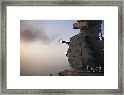 An Mk-15 Close-in Weapon System Framed Print
