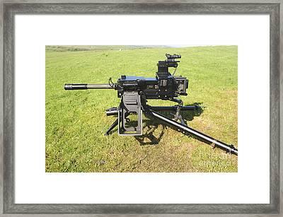 An Mk19 40mm Machine Gun Framed Print by Andrew Chittock