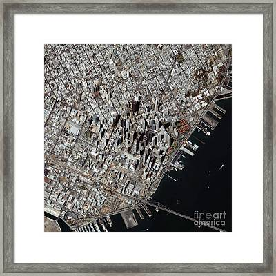 An Oblique-angle View Of San Franciscos Framed Print by Stocktrek Images