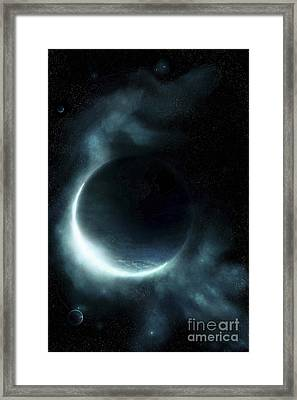 An Oceanic Planet Framed Print by Tomasz Dabrowski