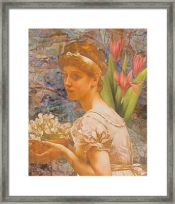 An Offering Framed Print by Kanchan Mahon