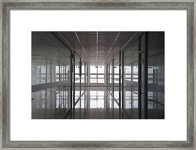 An Office Interior. Modern Framed Print by Guang Ho Zhu