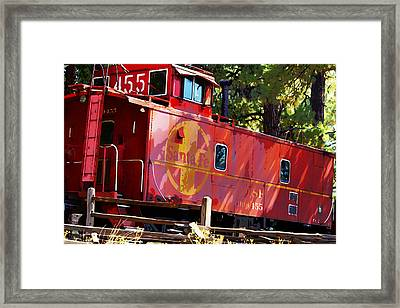 An Old Caboose Painterly Framed Print by Phyllis Denton