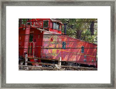 An Old Caboose  Framed Print by Phyllis Denton