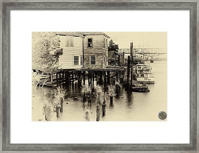 An Old Dock Framed Print