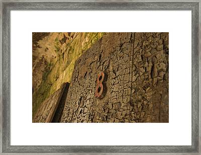 An Old Door At A Prison Framed Print by Ellie Teramoto