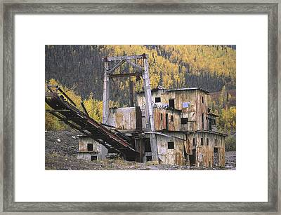An Old Gold Dredge Framed Print by Michael Melford
