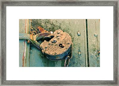 Framed Print featuring the photograph Old Lock by Katie Wing Vigil